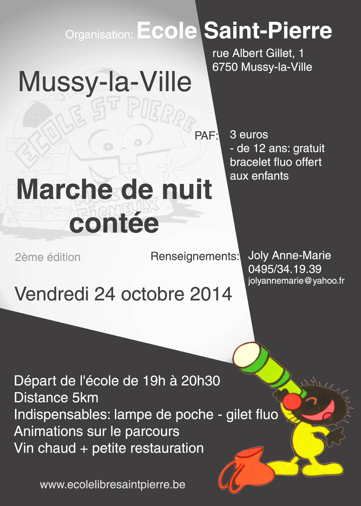 Marche de nuit cont e au d part de l ecole saint pierre mussy la ville ec - Horaires marche saint pierre ...