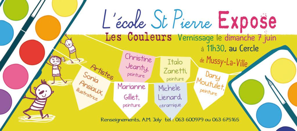L'école Saint-Pierre  Expose à Mussy-la-Ville