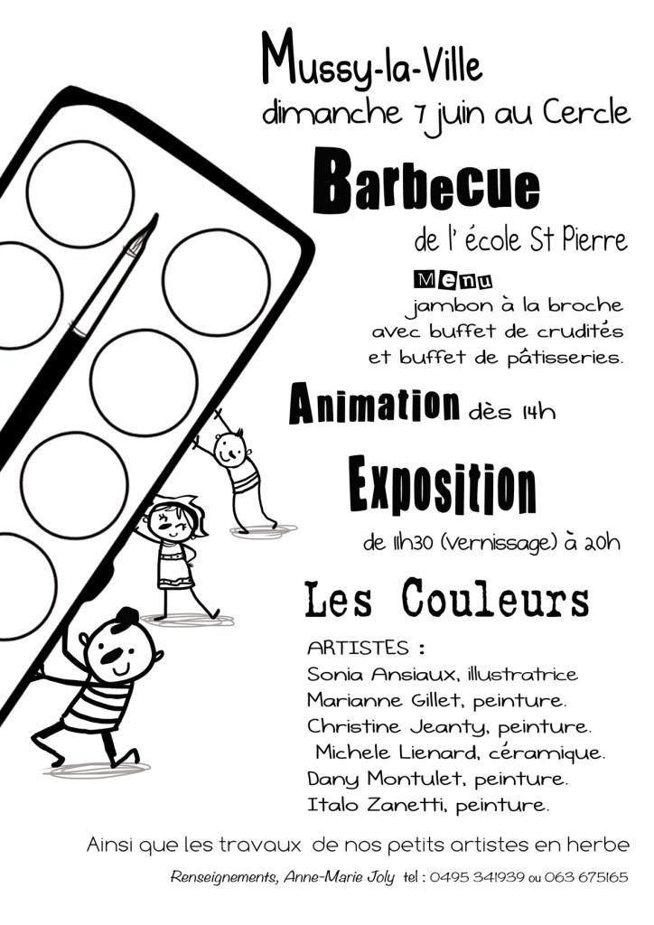 Barbecue annuel 2015 de l'Ecole Saint-Pierre à Mussy-la-Ville